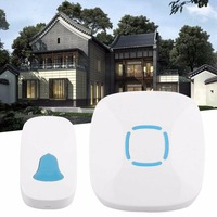 A507 Universall Household Use Low Power Consumption Wireless Doorbell Waterproof Music Home Security Device White