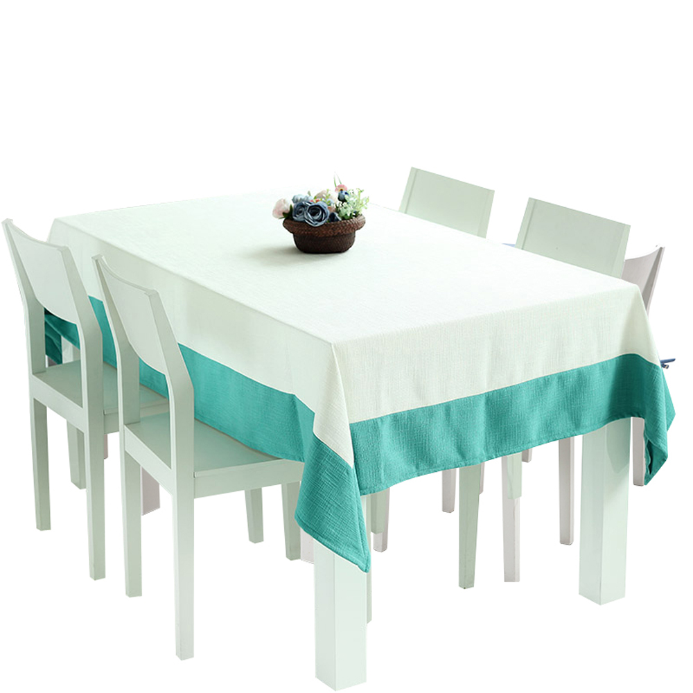 compare prices on modern tablecloths online shoppingbuy low  - nobildonna blue and white splicing tablecloth modern kitchen dining homedecor tea table cloth(china
