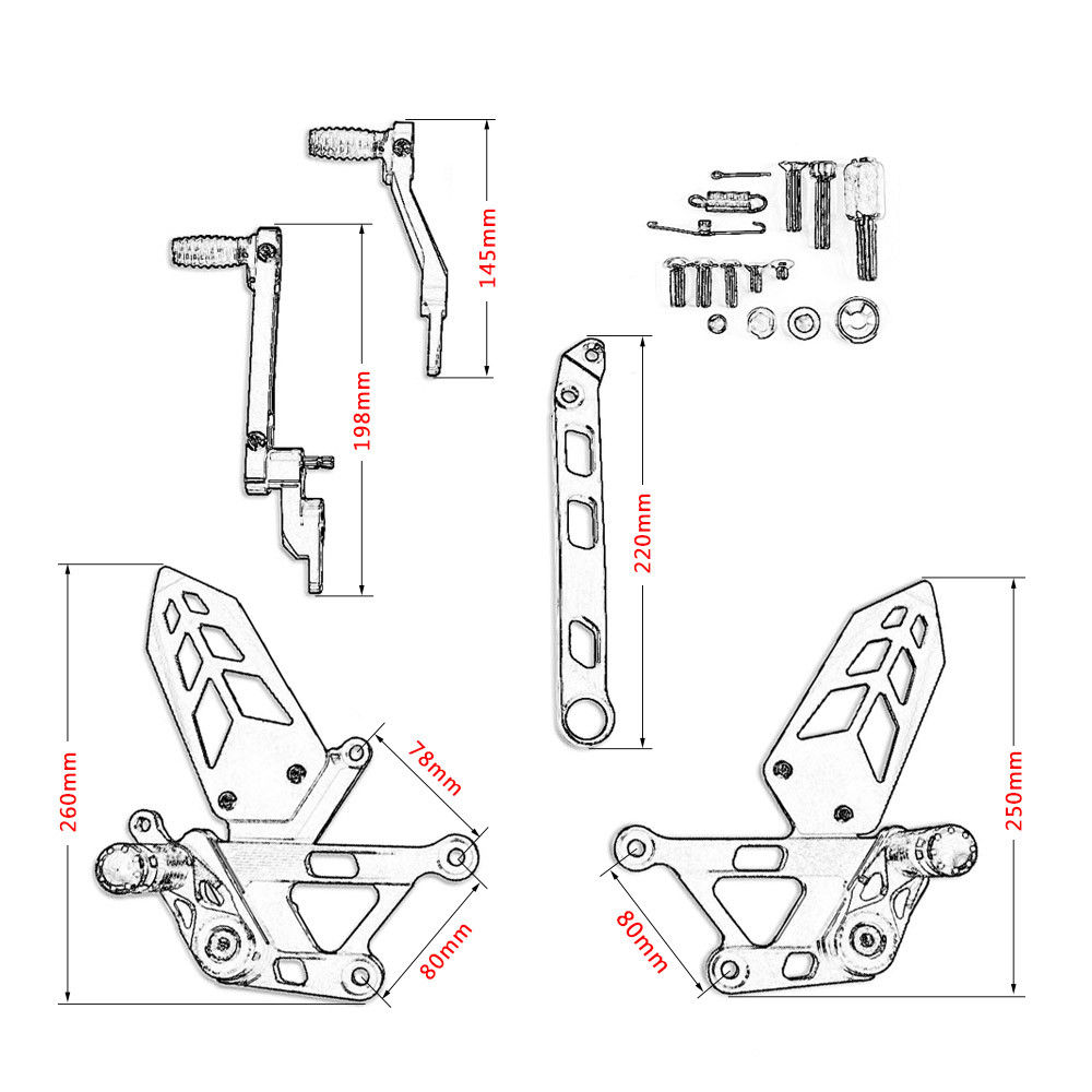 LJBKOALL MT10 FZ10 Aluminum Motorcycle Foot Rests Rear Set Adjustable MT 10 Foot Pegs Rearset For Yamaha MT 10 FZ 10 2016 2017 in Covers Ornamental Mouldings from Automobiles Motorcycles