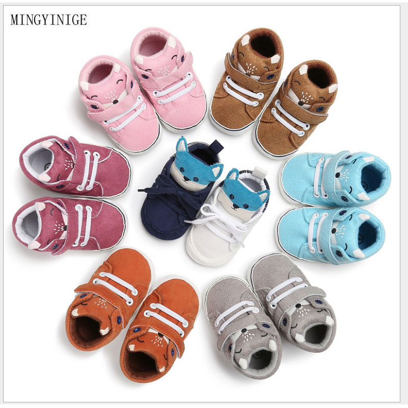 2# HEART SPEAKER Stars Print Baby Girl Boy Fashion Canvas Anti-Slip Thick Warm Shoes Winter Boots Size 12cm