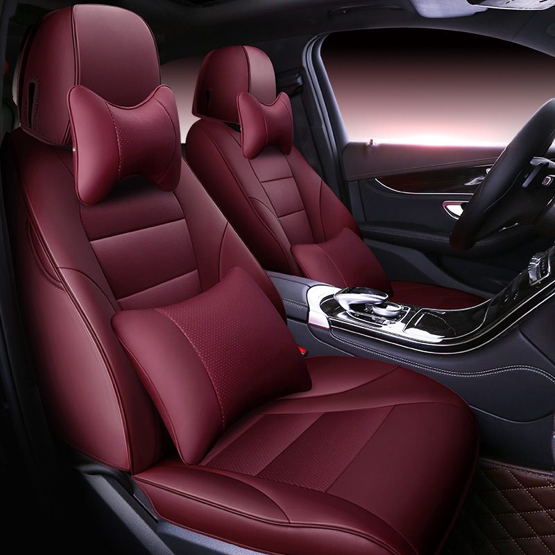 Custom Automobiles Cowhide leather Car seat cover For Mercedes Benz ML GLA GLK GLE S E G Class Sedan accessories car styling