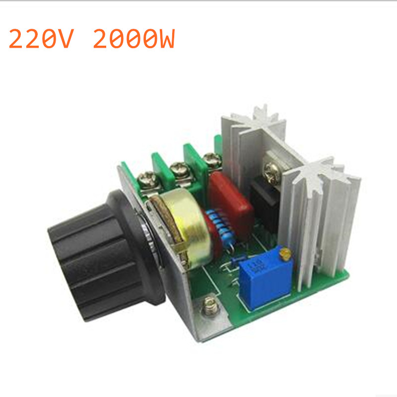 AC <font><b>220V</b></font> 2000W 2000 W SCR <font><b>Voltage</b></font> <font><b>Regulator</b></font> Dimming Dimmers Motor Speed Controller Thermostat Electronic <font><b>Voltage</b></font> <font><b>Regulator</b></font> Module image