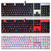 2016 HOT SALE New Motospeed Inflictor CK104 Mechanical Keyboard Switches Backlit RGB Nice