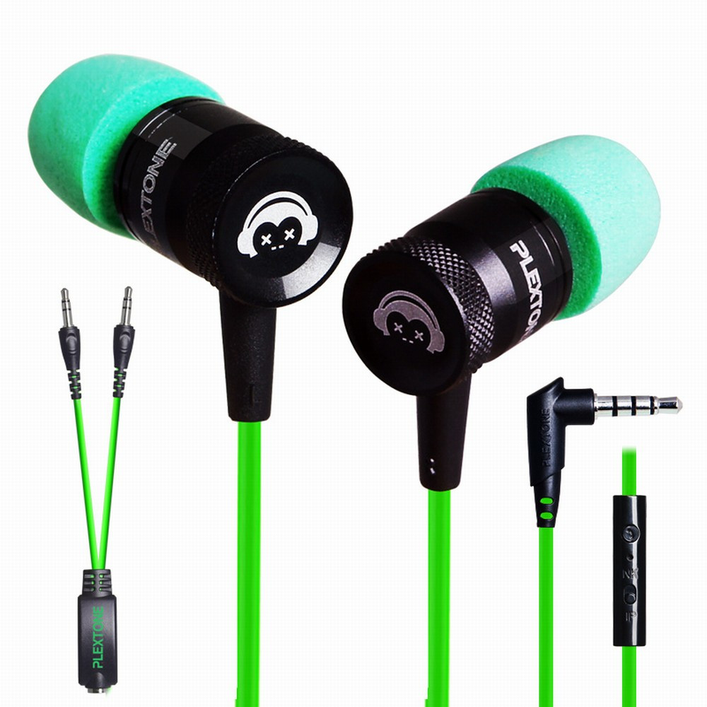 Cheapest Earphones PLEXTONE G10 Sport In-Ear Earbuds Heaphone Headset Stereo Bass With Mic In Ear Micro Earpiece @tw wholesale 10 pcs lot 3 5mm in ear earphones earbuds with mic