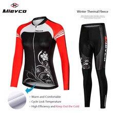 Для женщин зимняя одежда с ворсом с длинными рукавами спортивный комплект для велоспорта Одежда для дорожного велосипеда гоночные велосипедные Костюмы пользовательские Ropa Ciclismo нагрудник короткие штаны