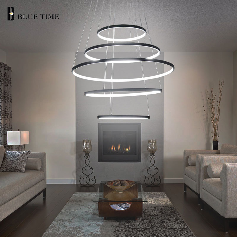 New Circle Rings Modern LED Chandelier Lights For Living Room Bedroom 5 4 3 2 Tiers Fashion Led Chandelier Home Lighting Fixture new circle rings modern led pendant lights for living room bedroom 5 4 3 2 tiers led pendant lamp fashion home lighting fixtures