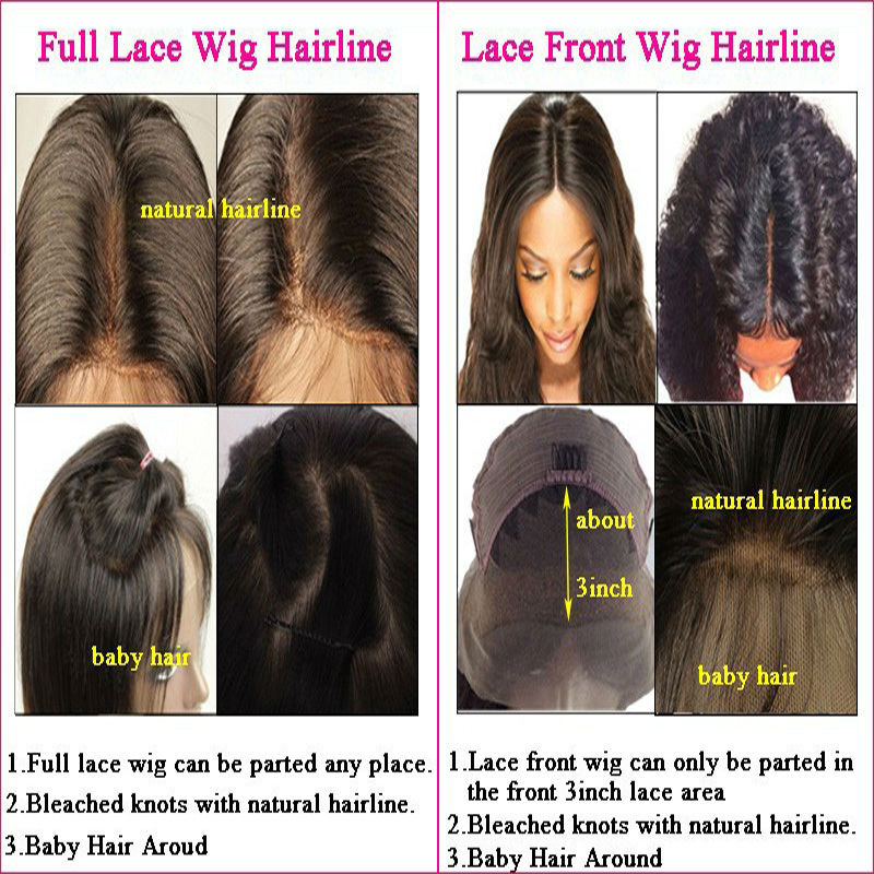 Unprocessed Virgin Human Hair Wigs Silky Straight Full Lace Wig With