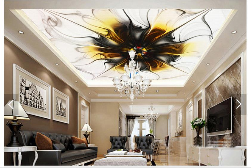 Popular textured ceiling wallpaper buy cheap textured for Ceiling mural in a smoker s lounge