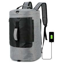 35L Multifunctional Sports Fitness Bag Travel Handbag Swimming Dry-Wet Separation Bag Foldable Cylindrical Shoulder Backpack tuban professional sports dry wet separation bag