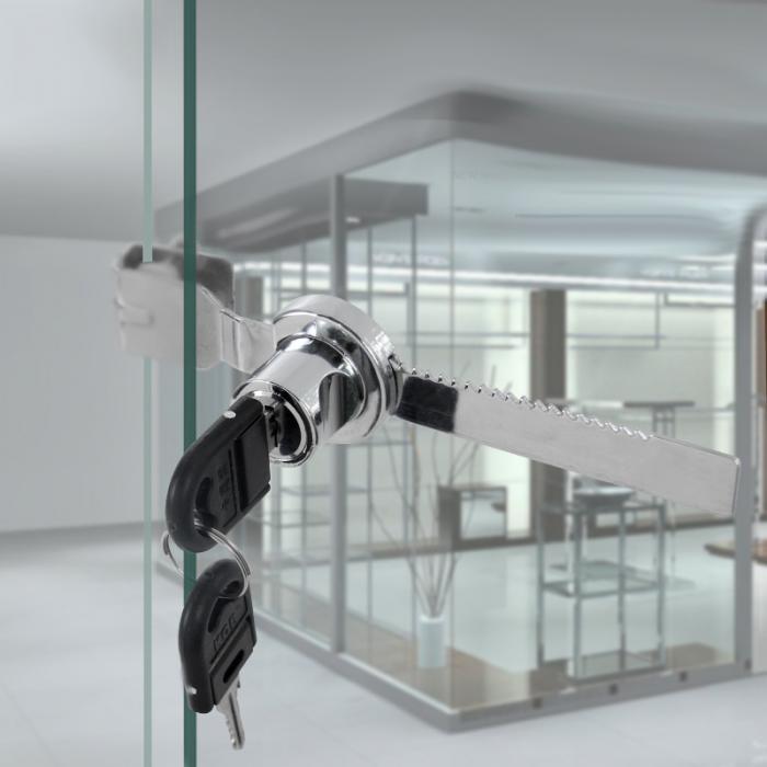 Раздвижные стеклянные двери храповой замок с 2 клавишами для шкафа выставочная витрина_ WK