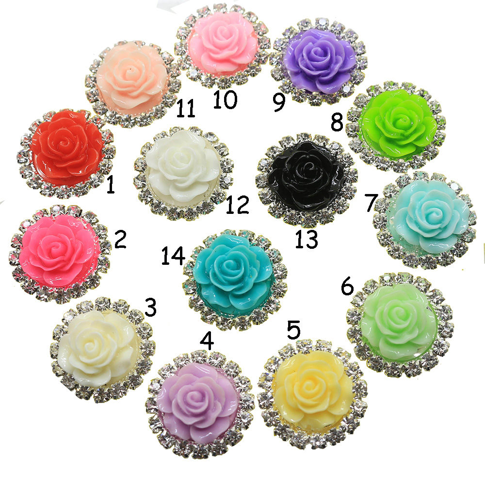 Detail Feedback Questions about Fashion 10pc 20MM Roses Resin Rhinestone  button flatback mix color craft supplies decorative hair flower center  scrapbooking ... abc0cf1505ed