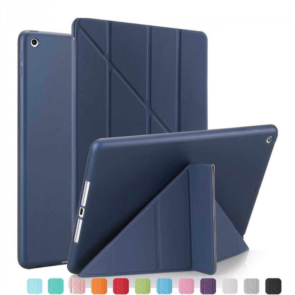 Caso para Apple ipad air 1 A1474... A1475... A1476... funda de silicona suave soporte de Folio con Auto Sleep/Wake Up PU funda inteligente de cuero