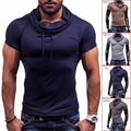 New Top Fashion Men's Summer Stylish Slim Fit Short Sleeve Shirts Hot Youths Mens light Grey/Dark gray/Light tan/Navy