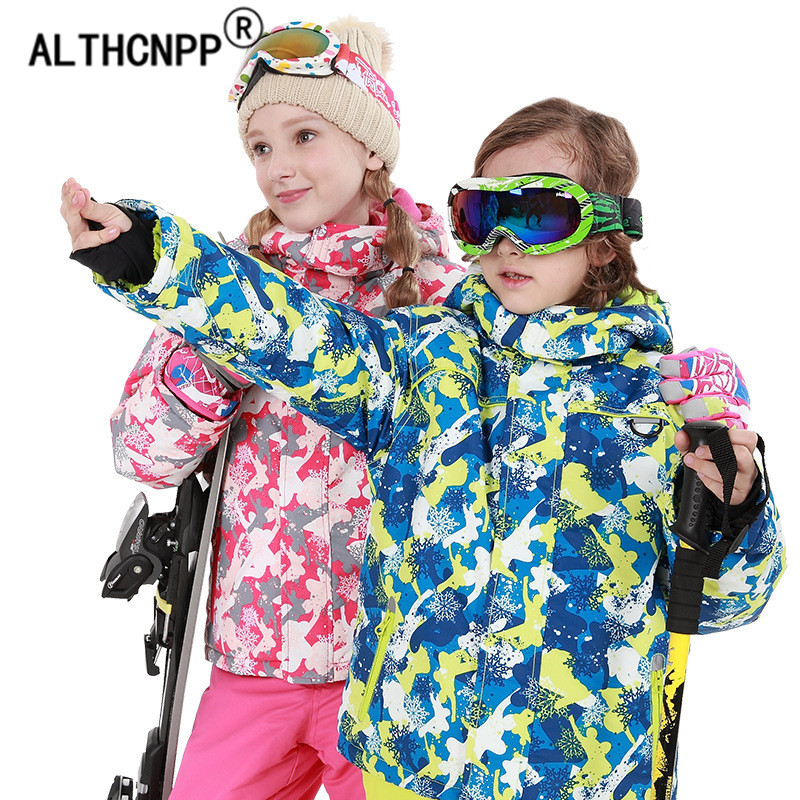 Girls Ski Set Thick Warm Boys Ski Jacket and Pants Children Outerwear Toddler Girls Winter Clothes Windproof Kids Snowboard Suit цены онлайн