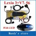 Lexia 3 + com LED cable! Top vendendo lexia3 ferramenta de diagnóstico pp2000 Lexia 3, Lexia-3 diagbox 7.56 software
