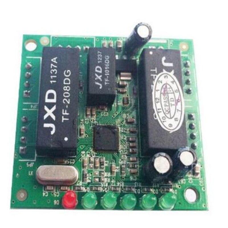 Ethernet switch 5port PBC PCBA mini design ethernet switch circuit board for ethernet switch module 10 100mbps 5 port PCBA board in Wireless Module from Consumer Electronics