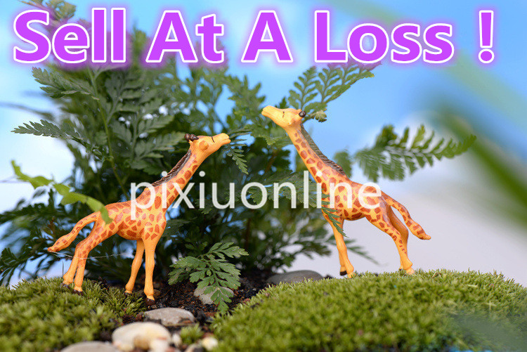 1pcs/lot DS64B Resin Model Crafts Giraffe Garden Miniature DIY House Terrarium Micro Landscape Decoration Giraffe Sell At A Loss
