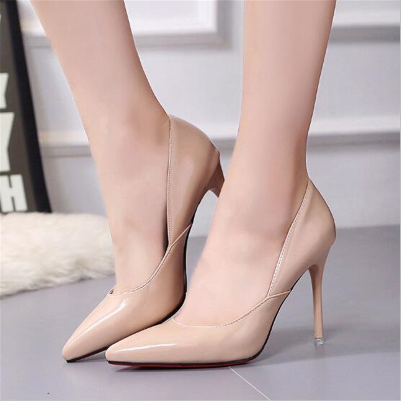 New Simple High Heels Shallow Mouth Pointed Stiletto Super High Heel Platform Professional OL Women Shoes Bridal Wedding ShoesNew Simple High Heels Shallow Mouth Pointed Stiletto Super High Heel Platform Professional OL Women Shoes Bridal Wedding Shoes