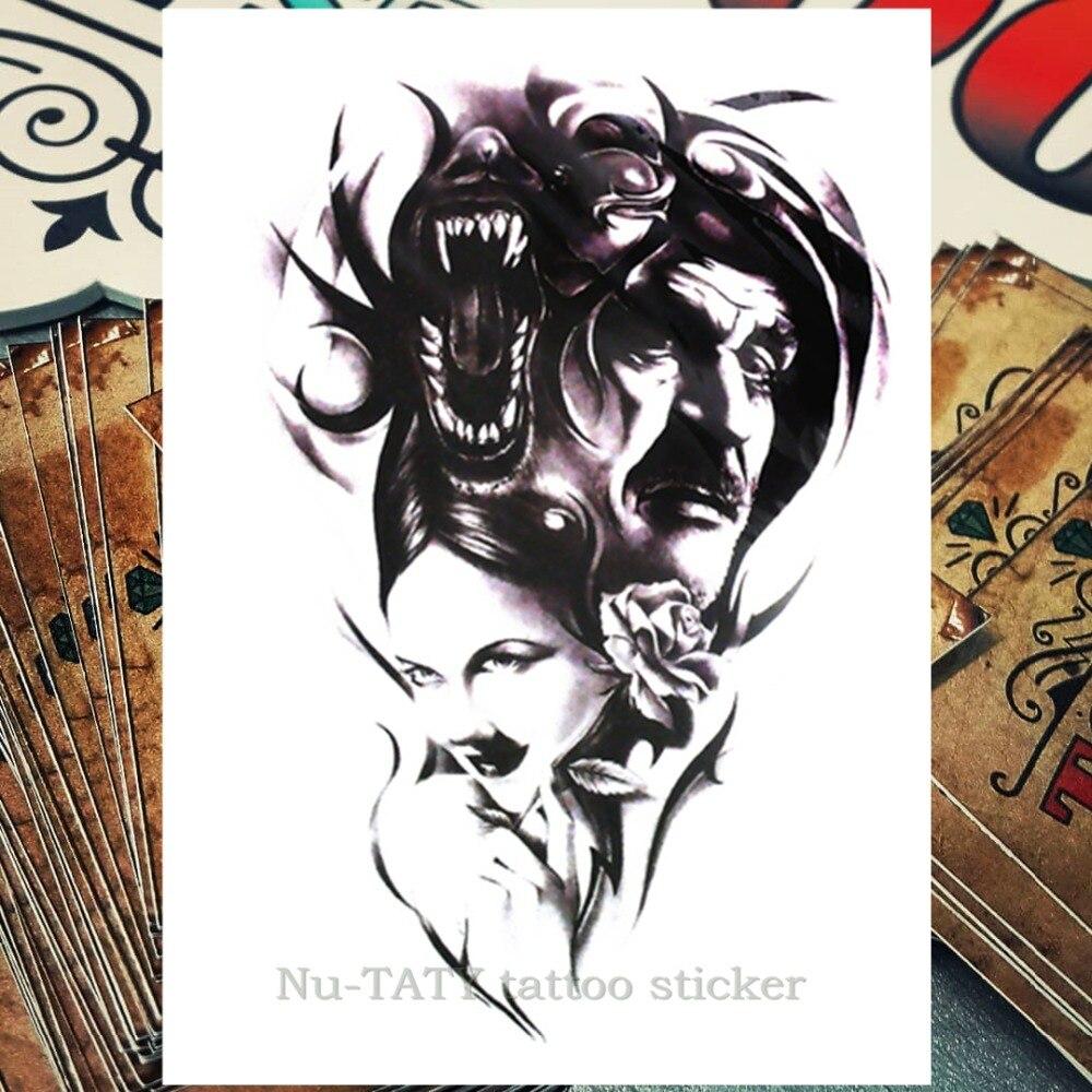 Us 101 9 Offnu Taty Tribal Wolf Tymczasowy Tatuaż Tatuaże Zmywalne Naklejki Body Art 2115 Cm Wodoodporna Henna Stylizacja Naklejka Dekoracyjna Do