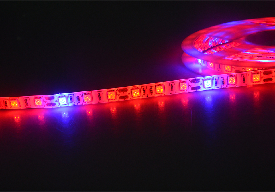 5M Led Plant grow light Waterproof SMD5050 Hydroponic Systems Led Grow Strip Light 300Leds Full spectrum (6)