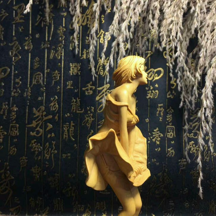 Boxwood красота украшения Искусство и ремесла домашнего интерьера Коллекционирование резьба по дереву Рождественский подарок - 3