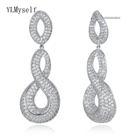 Amazing jewelry Luxury long earring extremely fast delivery crystal party jewellery big dangle earrings for women
