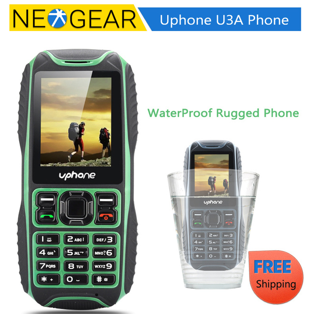 finest selection 46588 a36b6 US $49.0 |Uphone U3A IP67 Rugged Waterproof Phone Dust Proof, Waterproof,  Shockproof, Two SIM, FM Radio (Black/Green/Camouflage/Yellow)-in Mobile ...