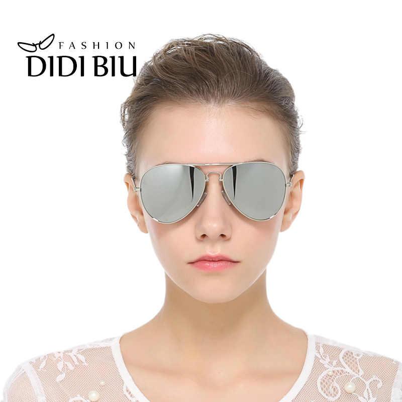 DIDI складные женские поляризационные солнцезащитные очки для мужчин люксовый бренд Pilot плоский топ золотой сплав оправа солнцезащитные очки для вождения Goggle Oculos 741