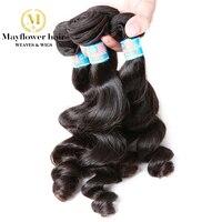Mayflower hair 1/2/3/4 bundle 100% Unprocessed Malaysian Loose wave virgin hair Natural color 12 24 mixed length Free shipping