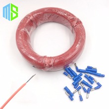 (100m/lot)3mm 12K/33ohm Infrared underfloor heater electric wire silicone carbon fiber heating cable of warm hotline home system