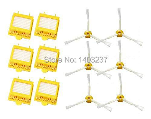 6 Pack Hepa Filters Side Brushes 3-Armed for iRobot Roomba 700 Series 760 770 780 Vacuum Cleaning Robotic Accessory 3 armed side brush 6 armed side brush 6 hepa filters for irobot roomba 700 series 760 770 780 790 vacuum cleaning robots