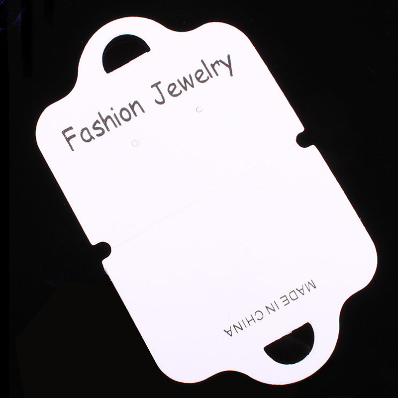 White Paper Jewelry Card Earring Display 7x11.6cm 200pcs/lot Wholesale Jewelry Card Necklace Display Cards H072