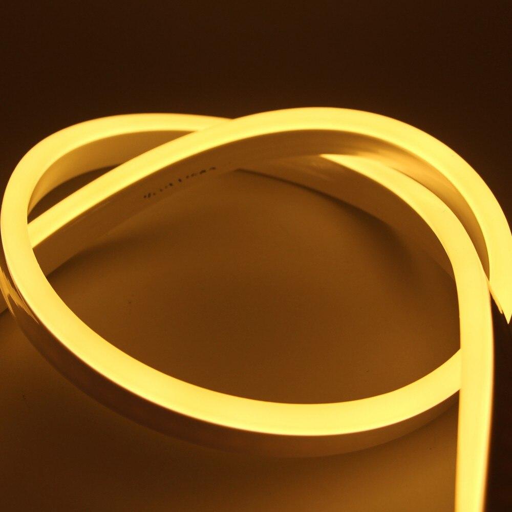 Л/ч, 15 м, 20m25m водонепроницаемый AC220V светодиодный неоновый свет 2835 гибкий + Мощность штепсельной вилки напольная декоративная полоска - 2