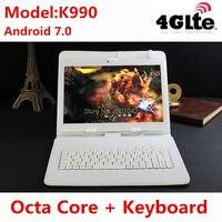 Envío libre 10 pulgadas MTK8752 3G/4G Dual SIM WCDMA GPS 4 GB/32 GB Android 7.0 PC de la Tableta de apoyo Google Play store