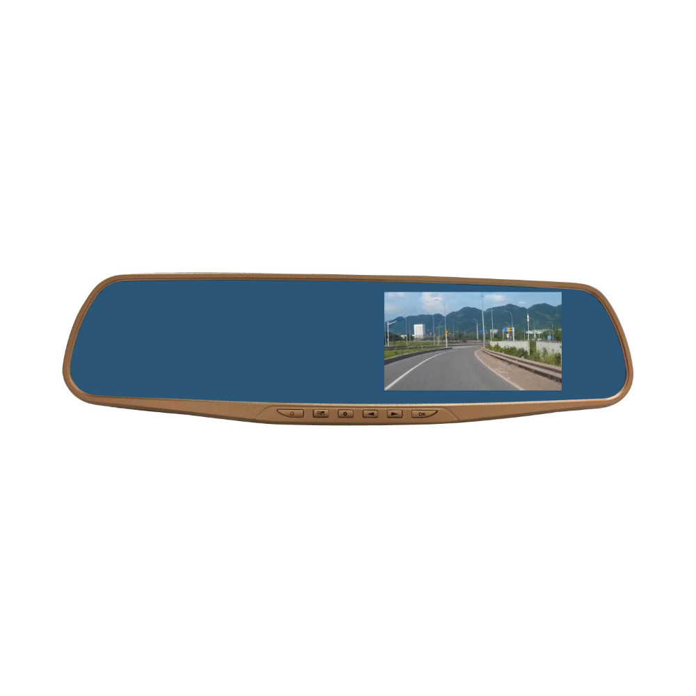 Rearview mirror video recorder 720P parking Car DVR Dual Camera