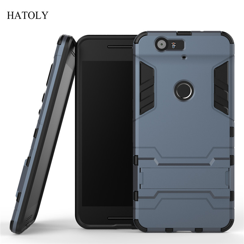 outlet store 2cc6f 3e259 HATOLY For Armor Case Huawei Nexus 6P Case Robot Silicone Rubber Hard Back  Phone Cover For Huawei Google Nexus 6P H1511 H1512 ≪