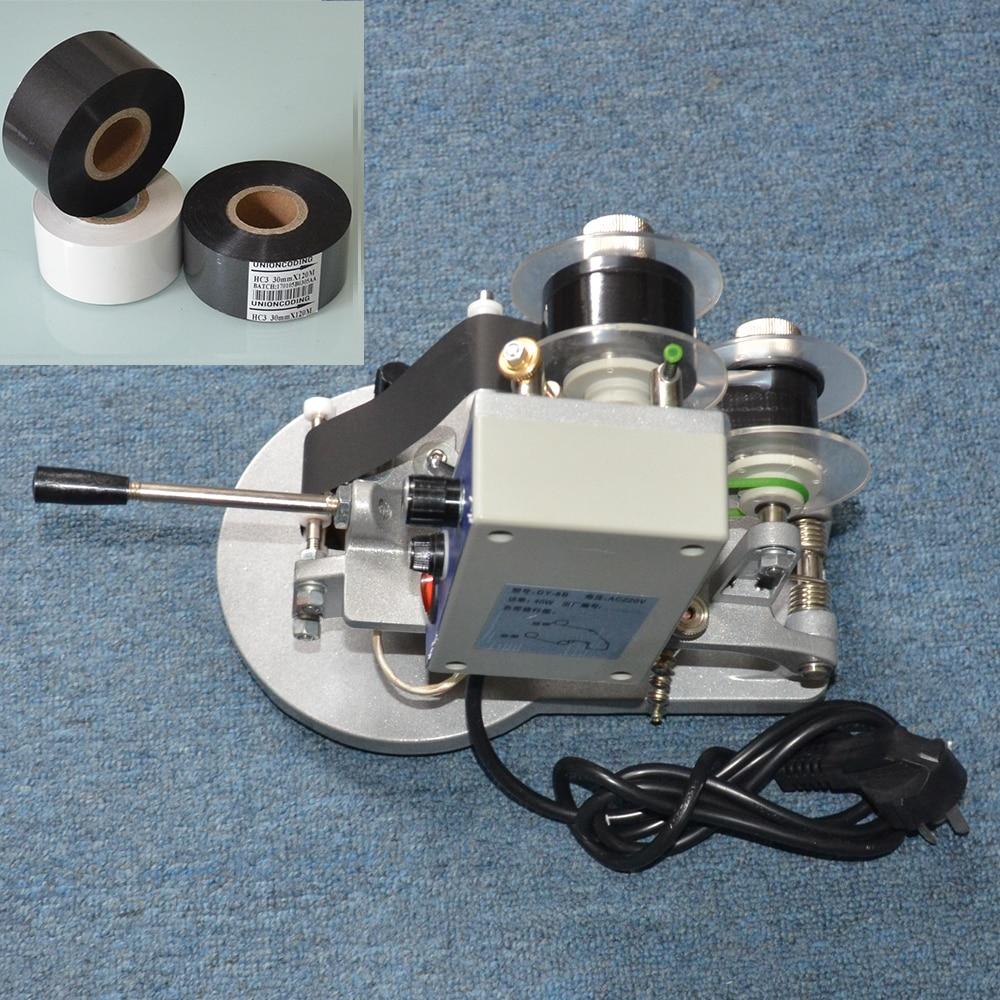 Manual type ink ribbon machine for plastic packaging bagsManual type ink ribbon machine for plastic packaging bags