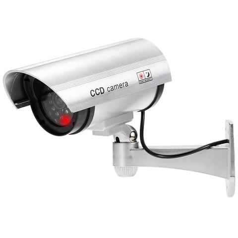 Fake Dummy Camera Waterproof Outdoor Fake Camera Battery Powered Flicker Blink LED Security Bullet CCTV Camera Karachi