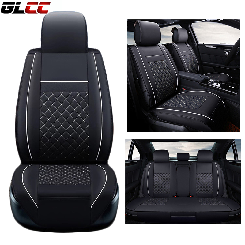 Luxury PU Leather Car Seat Cover Set Full Surrounded Seat Covers For 5 Seats Cushion Auto Covers Protector Seats Universal