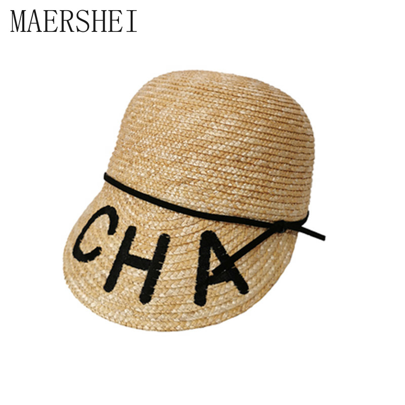 MAERSHEI Sun Hats For Women Equestrian Kentucky Derby Hats Visor Sobrero Straw Hat With Bow Summer Hat For Women Beach Cap