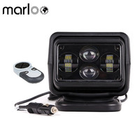 Marloo 7 60W Led Remote Control Searchlight 7 Inch 12V 24V LED Work Searching Light For