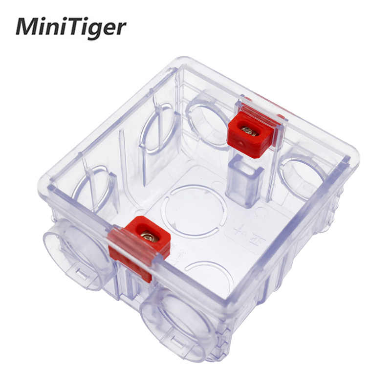Minitiger Adjustable Transparent Mounting Box Internal Cassette 86mm*83mm*50mm For 86 Type WIFI Touch Switch and USB Socket
