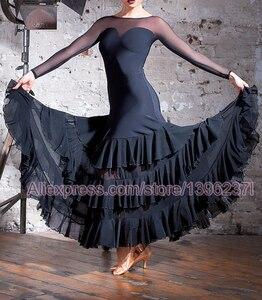 Image 2 - Vestidos de baile de competición de salón para mujer, falda de Flamenco barata, elegante, estándar, 2020