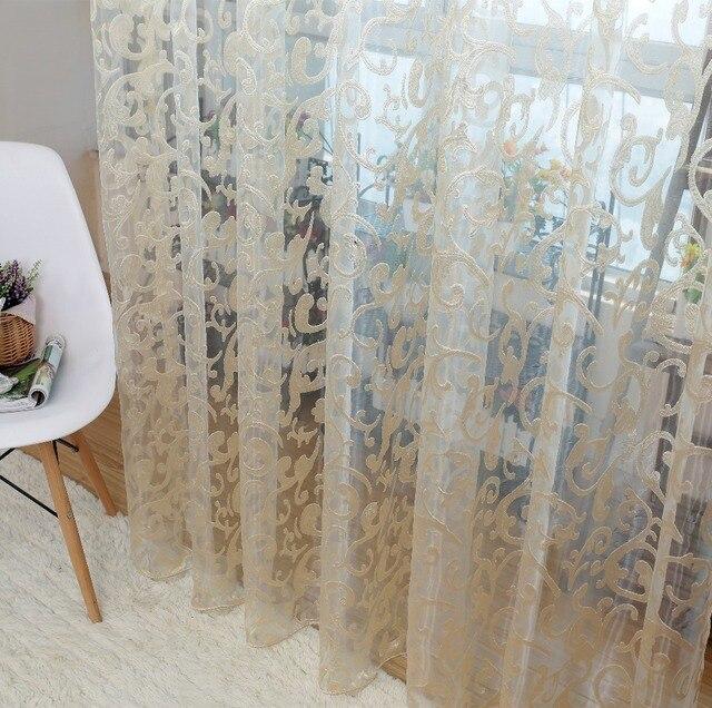 Европейский стиль жаккард листьев дизайн тюля штор для балкона