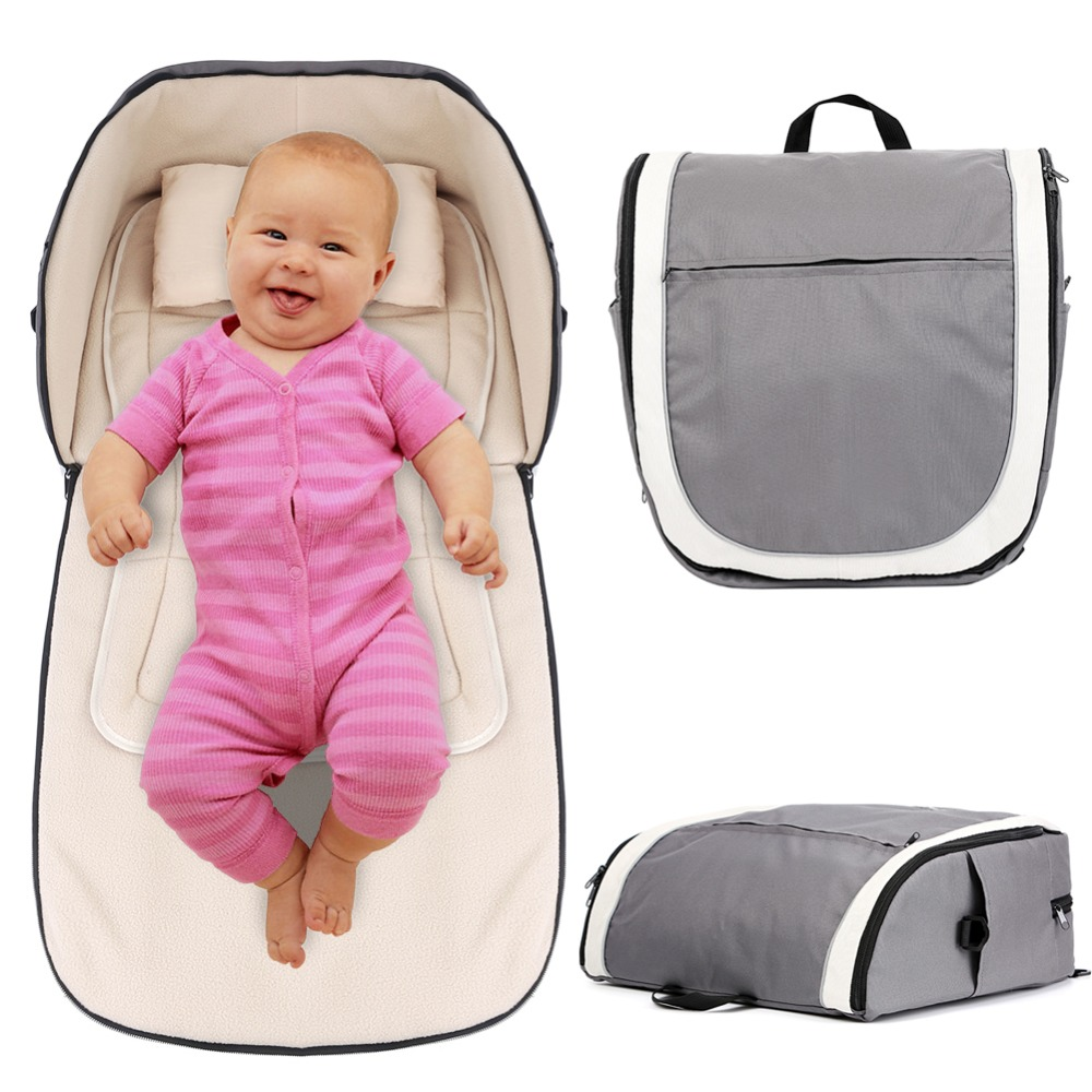 2in1 Portable Baby Travel Bag and Carrycot Outdoor Folding Bassinet Baby Crib Diaper Nappy Changing Bag