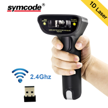 Barcode Scanner Symcode 1D Laser Handheld USB Wireless Reader User for Supermarket