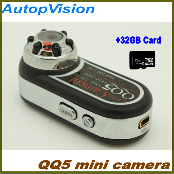 Mini Camcorder Full HD 1080P 720P Infrared Night Vision DV Camera 12MP Cam Webcam 170Wide Angle Motion Detection with 32GB card