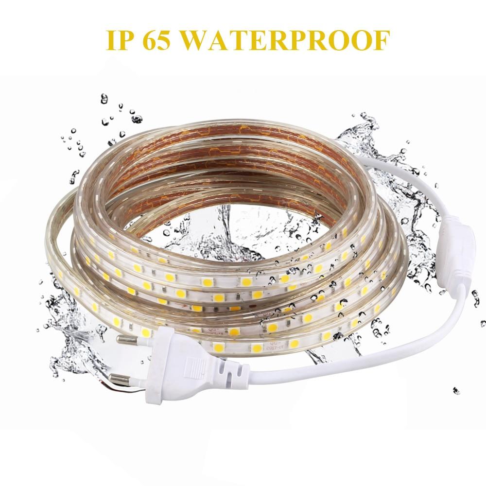 Vattentät SMD 5050-ledad tejp AC220V flexibel ledremsa 60 leds / - LED-belysning - Foto 4