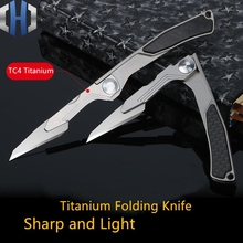 2019 Hot Sale Titanium Alloy Mini Knife Utility Scalpel Portable Folding Outdoor Pocket