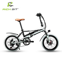 Richbit 48V 8AH Folding Electric Bike 20 inch Mini Electric Bicycle Mechanical Disc Brakes with USB Cell Phone Recharger Holder